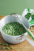 Frozen Peas in a Pot
