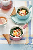 Egg, Spinach and Tomato Ramekins