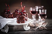 Black Forest gâteau cubes