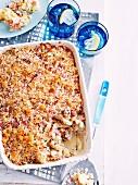 Cauliflower and Ham Pasta Bake