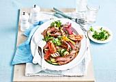 Marinated Beef with Mediterraniean Vegetables