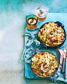 Zucchini Carbonara Frittatas
