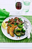 Chargrilled Broccoli with Steak