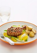 Grilled Pork Cutlets with Witlof and Orange