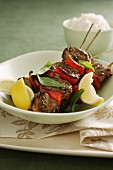 Pork and Red Capsicum Skewers