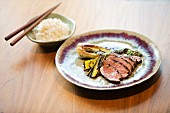 Five-spice duck breast with rice (Korea)