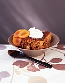 Sponge Pudding With Apricots