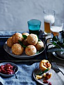 Fried blue swimmer crab balls with chilli sauce