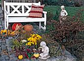 Jahreszeitenbeet im Herbst