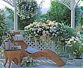 Weißer Balkon