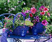 Körbe als Geschenk gefüllt mit Balkonblumen