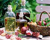 Herbal oil and herbal vinegar