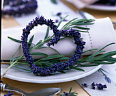 Lavandula (lavender) branches and lavender heart