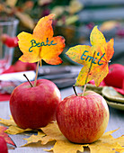 Apples as place cards