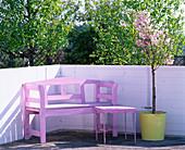 Vorher-Nachher-Balkon in rosa: 1/2