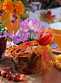 Herbst Topf Blätter