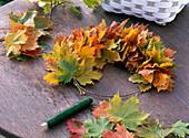 Herbst Blätter Kränze