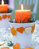 Orangenschale ausstechen als Baumschmuck: 3/3