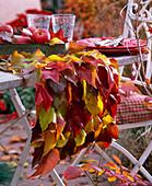 Tischläufer mit Herbstlaub von Wildem Wein : 3/3