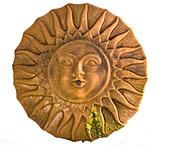 Dekoelement aus Terracotta : Sonne als Freisteller