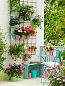 Vorher - Nachher - Balkon mit Baustahl - Gitter : Sommeraspekt