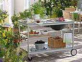 Outdoor - Küche : grillen auf der Terrasse