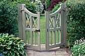 THE GATE LEADING INTO ALICE'S Garden at WOLLERTON Old HALL, SHROPSHIRE