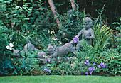 Statue IN CAROLYN HUBBLE'S Garden, SHROPSHIRE