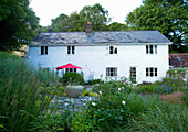 Clare MATTHEWS HOUSE, DEVON. VIEW TO HOUSE with PERENNIAL PLANTING IN FOREGROUND. Designer Clare MATTHEWS