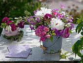 Frühsommerstrauß aus Paeonia (Pfingstrosen), Rosa (Duft - Rosen)