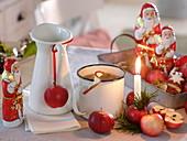 Tee aus Äpfeln (Malus), Apfel als Kerzenhalter