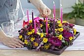 Geburtstagskranz mit Kerzen