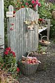 Offenes Tor in den Bauerngarten