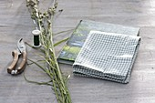 Graszopf als Geschenk - Verpackung