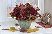 Herbststrauss mit Chrysanthemum (Herbstchrysantheme)