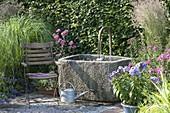 Brunnen mit Naturstein - Trog