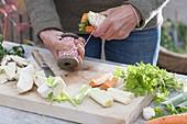 Suppengrün aus eigener Ernte