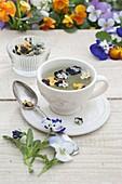 Viola - Blüten trocknen für Tee