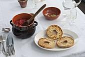 Bruschetta mit Tomaten als Vorspeise