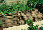 RAISED WICKERWORK BED Beside Crushed SHELL PATH. CHELSEA 2001, BRIGHTSTONE & DISTRICT HORTICULTURAL SOCIETY