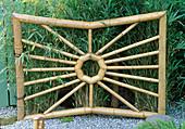 SPIDERS WEB BAMBOO GATE. World of KOi Garden, CHELSEA