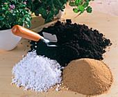 Erde mit Sand UND Styroporkügelchen