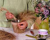 Strauß mit Grasmanschette
