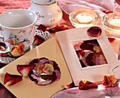 Blüten und Blätter pressen / Grußkarten selbstgemacht: getrocknete, gepresste Blü