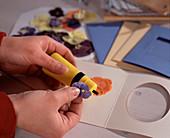 Blüten und Blätter pressen / Grußkarten selbstgemacht: getrocknete,gepressete Blüt