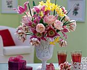 Tulipa 'Angelique', 'Carneval de Nice', 'Claudia' / Tulpen,