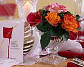 Rosa / Rosen gelb-rot, orange, weiß-rosa, Hippeastrum / Amaryllis, Oxalis / Glüc