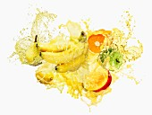Fruits splashed in multi-vitamin juice
