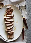 Roasted Sliced Pepper Pork Loin