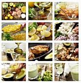 Hähnchensalat mit Mais und Avocadocreme (Mexiko) zubereiten